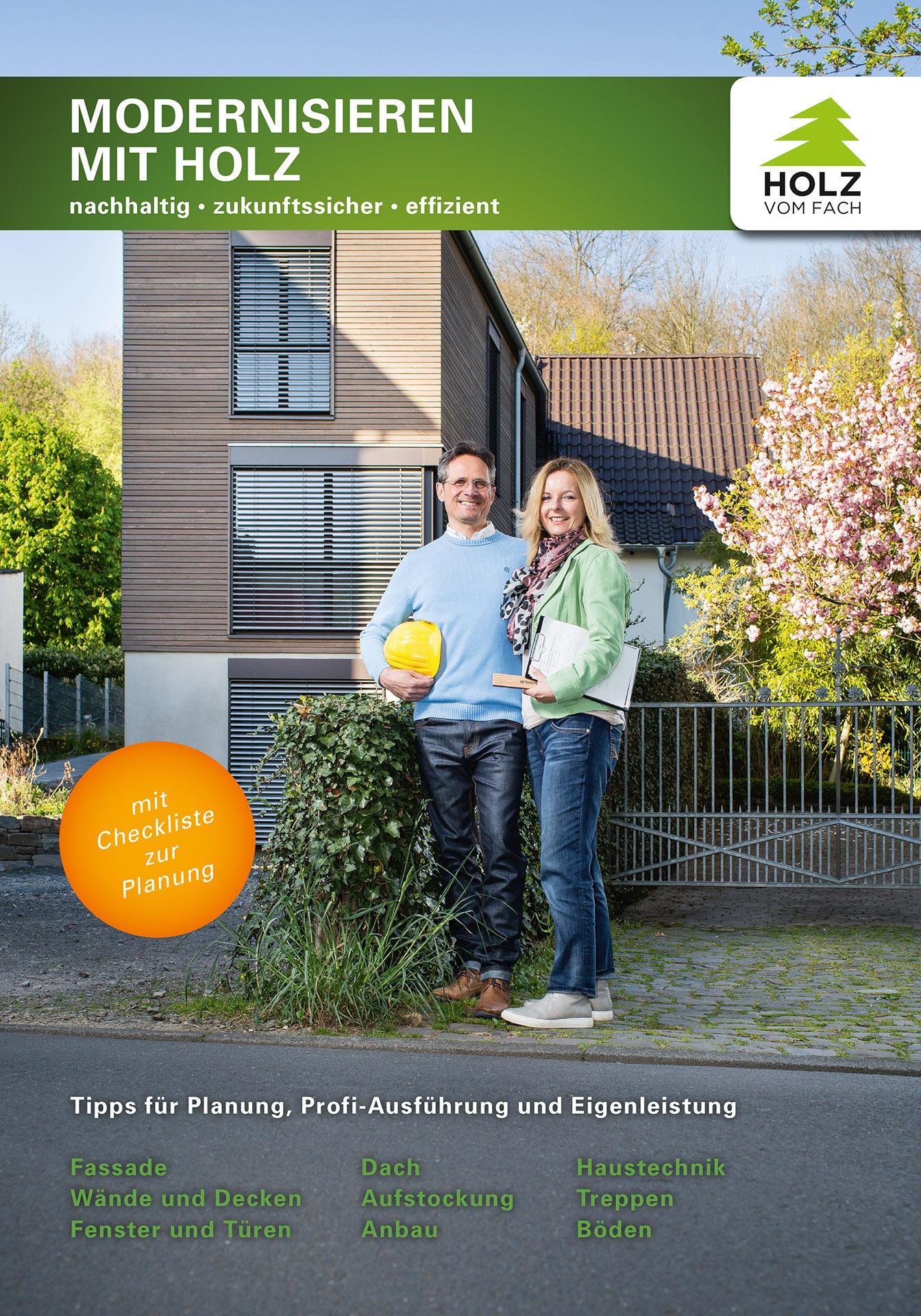 Broschüre Modernisieren mit Holz