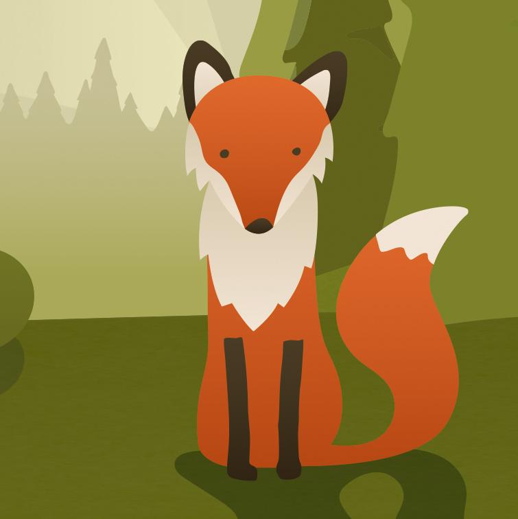 Fuchs aus dem Wald der Wünsche