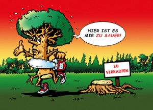 """""""Hier ist es mir zu sauer!"""" sagt der Baum"""