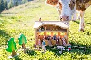 Kuh und Spielzeug