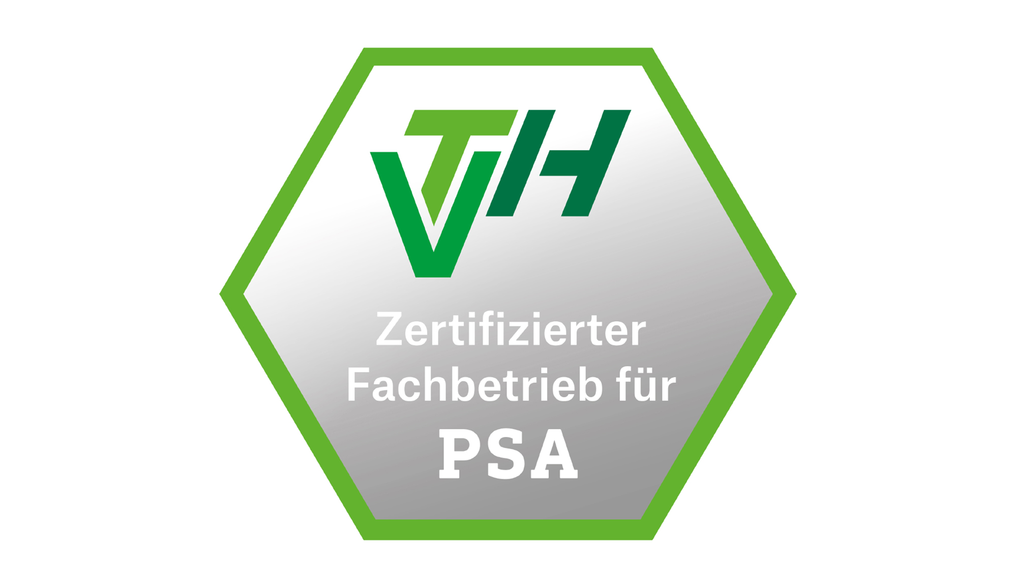 """VTH-Prüfsiegel """"Zertifizierter Fachbetrieb für PSA"""""""