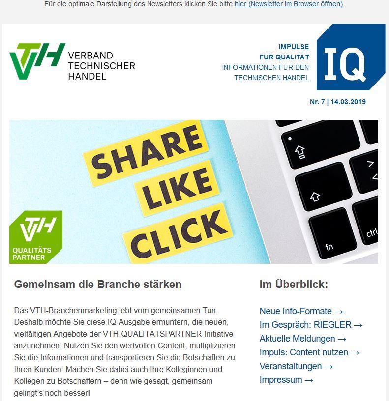 VTH-Newsletter IQ Nr. 7